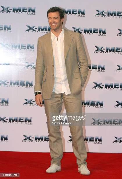 Hugh Jackman during XMen The Last Stand Mexico City Red Carpet May 15 2006 at Auditorio Nacional in Mexico City Mexico