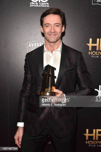 Hugh Jackman Hollywood Actor Award Recipient poses in the press room during the 22nd Annual Hollywood Film Awards at The Beverly Hilton Hotel on...