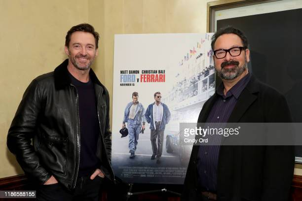 """Hugh Jackman Hosts A Screening Of """"Ford v Ferrari"""" With Director James Mangold on November 09, 2019 in New York City."""