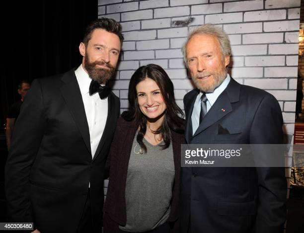 Hugh Jackman Idina Menzel and Clint Eastwood attend the 68th Annual Tony Awards at Radio City Music Hall on June 8 2014 in New York City