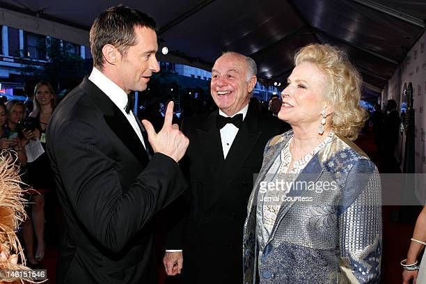 Hugh Jackman Marshall Rose and Candice Bergen attend the 66th Annual Tony Awards at The Beacon Theatre on June 10 2012 in New York City