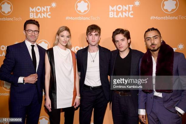 Hugh Jackman Martha Hunt GabrielKane DayLewis Dylan Sprouse and Quincy Brown attend as Montblanc celebrates the launch of MB 01 Headphones Summit 2...