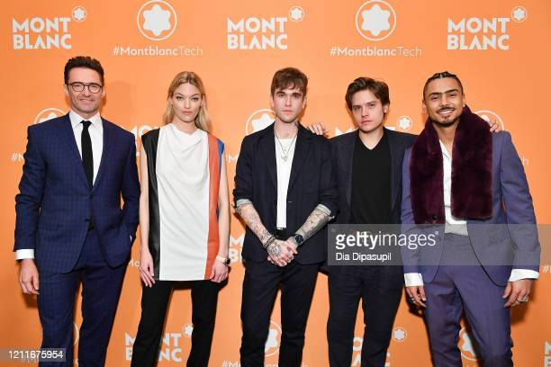 Hugh Jackman Martha Hunt GabrielKane DayLewis Dylan Sprouse and Quincy Brown attend the Montblanc MB01 Headphones Summit 2 Launch Party at World of...
