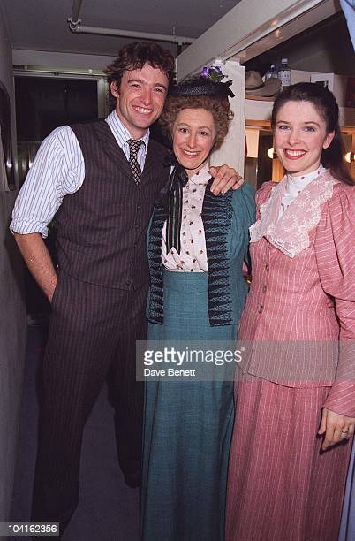 Hugh Jackman maureen Lipman Josefina Gabrielle At The Opening Night Of Oklahoma Musical At The National Theatre In London