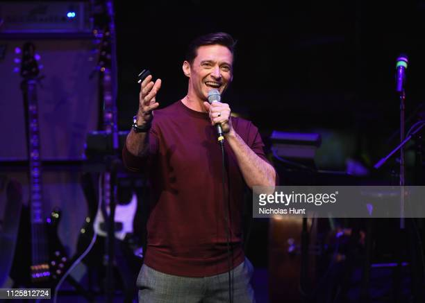 Hugh Jackman performs at The Nearness Of You Concert in Honor of Michael Brecker at Jazz at Lincoln Center on January 28 2019 in New York City