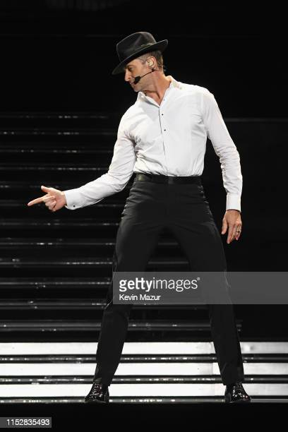 Hugh Jackman performs onstage during Hugh Jackman The Man. The Music. The Show. At Madison Square Garden on June 29, 2019 in New York City.