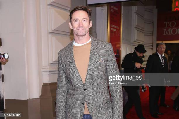 Hugh Jackman poses at the opening night of the hit play To Kill a Mockingbird on Broadway at The Shubert Theatre on December 13 2018 in New York City
