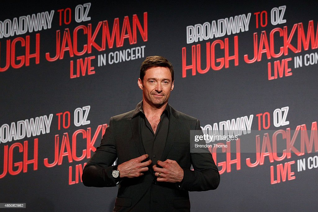 Hugh Jackman poses during a press conference at Four Seasons Hotel on August 24, 2015 in Sydney, Australia.