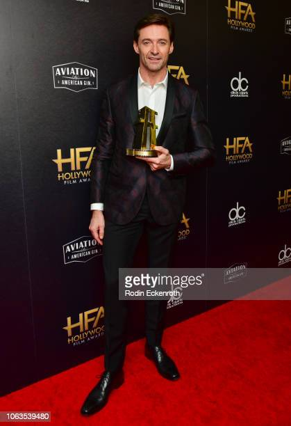 Hugh Jackman poses in press room at the 22nd Annual Hollywood Film Awards on November 04 2018 in Beverly Hills California