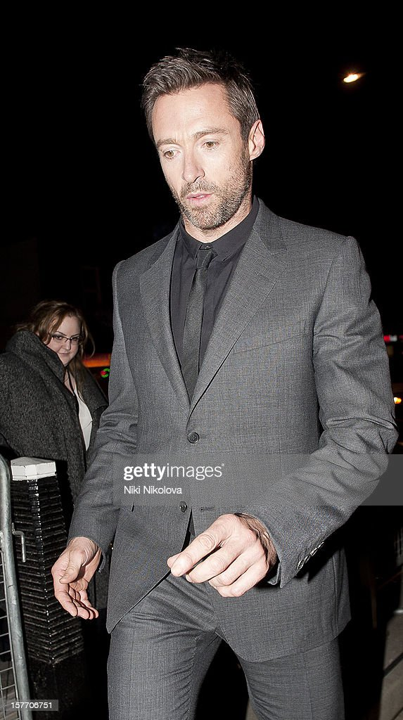 Hugh Jackman sighting on December 5, 2012 in London, England.