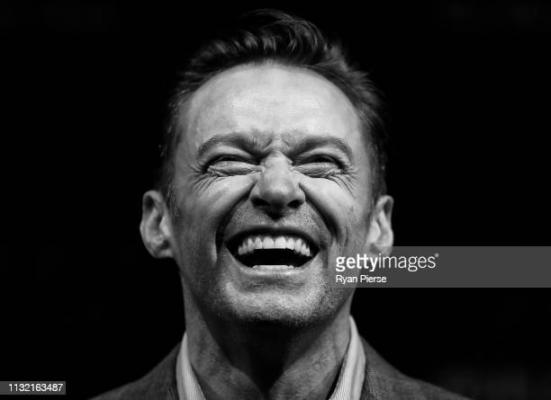 Hugh Jackman speaks during a media announcement at the Museum of Contemporary Art on February 26 2019 in Sydney Australia