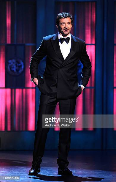 Hugh Jackman speaks on stage during the 65th Annual Tony Awards at the Beacon Theatre on June 12 2011 in New York City