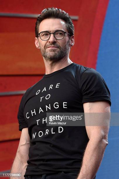 Hugh Jackman speaks onstage during the 2019 Global Citizen Festival Power The Movement in Central Park on September 28 2019 in New York City