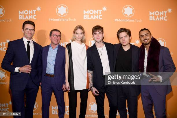 Hugh Jackman Sylvain Costof Martha Hunt GabrielKane DayLewis Dylan Sprouse and Quincy Brown attend as Montblanc celebrates the launch of MB 01...