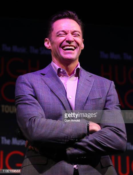 Hugh Jackman talks during a media announcement at Museum of Contemporary Art on February 26 2019 in Sydney Australia