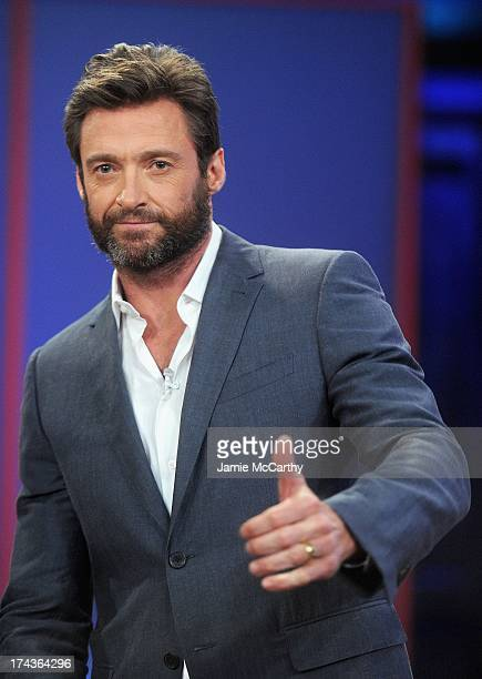 Hugh Jackman visits 'Late Night With Jimmy Fallon' at Rockefeller Center on July 24 2013 in New York City