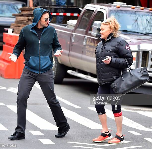 Hugh JackmanDeborralee Furness are seen in the West Village on March 5 2018 in New York City
