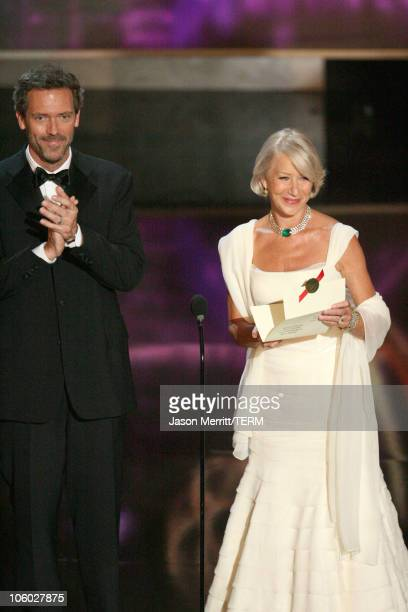 Hugh Laurie and Helen Mirren, presenters Outstanding Lead Actor in a Miniseries or Movie