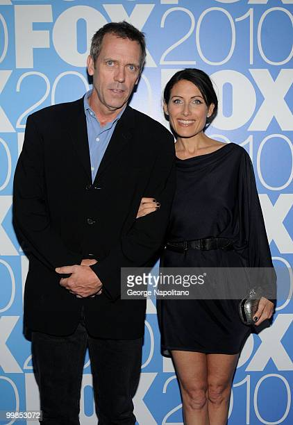 Hugh Laurie and Lisa Edelstein attend the 2010 FOX UpFront after party at Wollman Rink Central Park on May 17 2010 in New York City