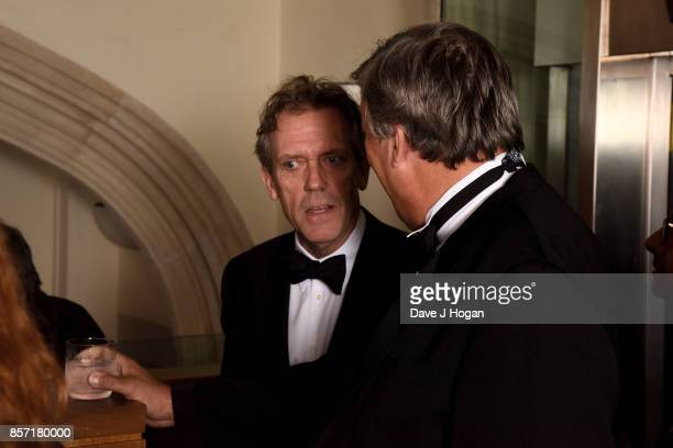 Hugh Laurie and Stephen Fry attend the BFI Luminous Fundraising Gala at The Guildhall on October 3 2017 in London England