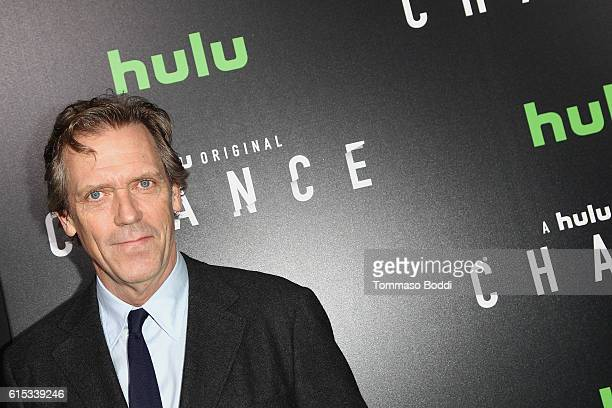 Hugh Laurie attends the premiere of Hulu's Chance held at Harmony Gold Theatre on October 17 2016 in Los Angeles California