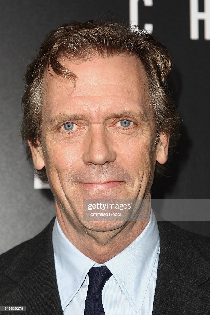 Hugh Laurie attends the premiere of Hulu's 'Chance' held at Harmony Gold Theatre on October 17, 2016 in Los Angeles, California.