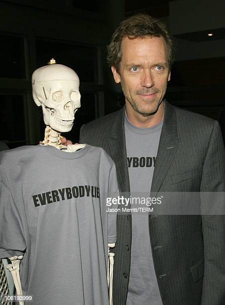 Hugh Laurie during House Announces Creation of Exclusive Houseism Tees at 20th Century Fox Lot in Los Angeles California United States