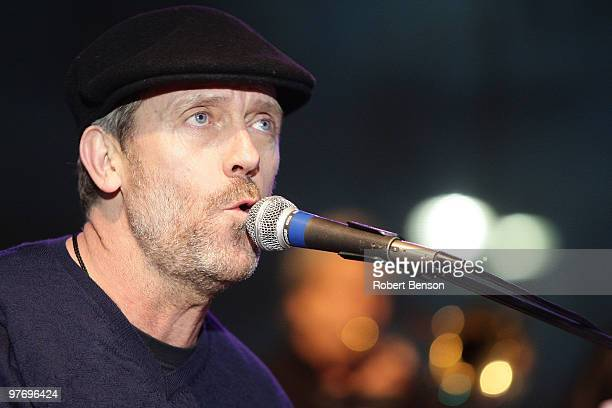 Hugh Laurie from Band with TV performs at the grand opening of Loehmann's in Costa Mesa on March 13 2010 in Costa Mesa California