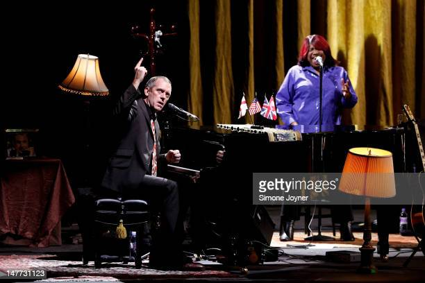 Hugh Laurie performs live on stage at HMV Hammersmith Apollo on July 2 2012 in London United Kingdom