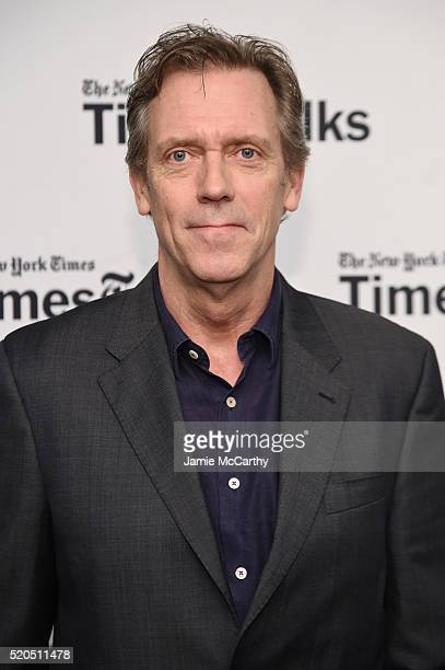 Hugh Laurie poses before The New York Times TimesTalks at Directors Guild of America Theater on April 11 2016 in New York City
