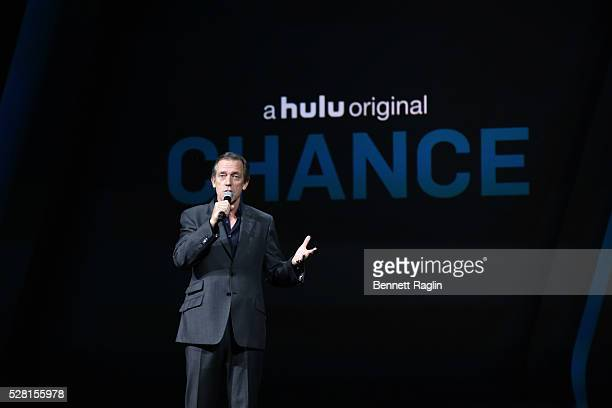 Hugh Laurie speaks at the 2016 Hulu Upftont Presentation on May 04 2016 in New York New York