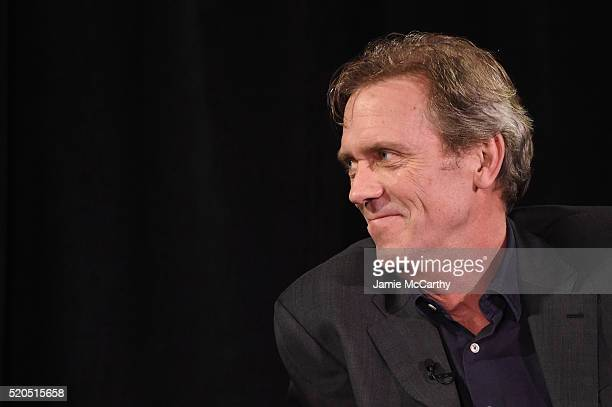Hugh Laurie speaks onstage during The New York Times TimesTalks at Directors Guild of America Theater on April 11 2016 in New York City