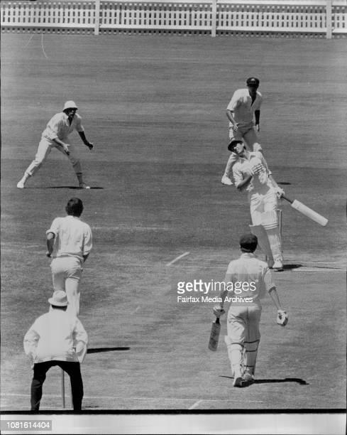Hugh Martin Cricket NSW V South AustraliaMartin hit by ball from Hammond on 0 January 31 1972