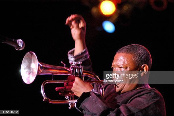 Hugh Masekela during 2004 Atlanta Jazz Festival Kickoff Featuring Arturo Sandoval and Hugh Masekela in Concert at Chastain Park Amphitheatre in...