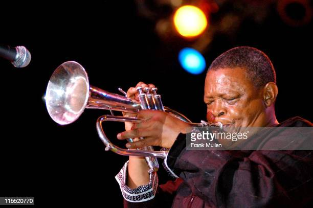 Hugh Masekela during 2004 Atlanta Jazz Festival Kickoff Featuring Arturo Sandoval and Hugh Masekela in Concert at Chastain Park Amphitheatre in...