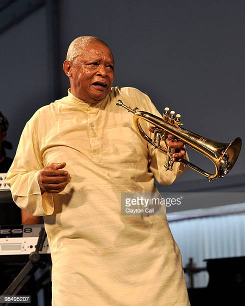 Hugh Masekela perfoming at the New Orleans Jazz Heritage Festival on April 26 2009