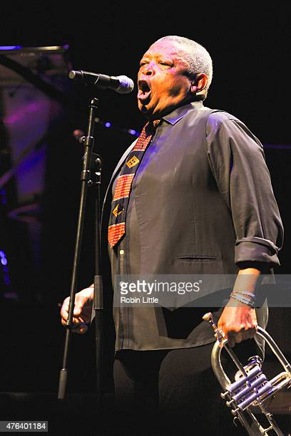 Hugh Masekela performs at Barbican Centre on June 8 2015 in London United Kingdom