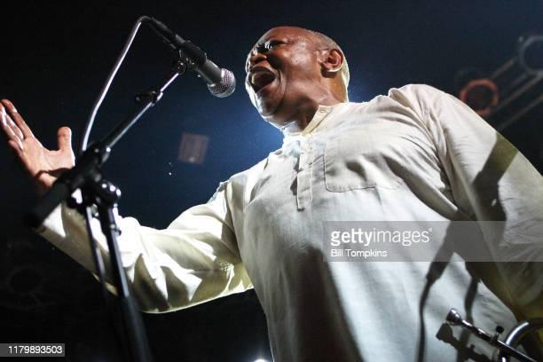 "Hugh Masekela performs at the Global Rhythms magazine anniversary party at the Highline Ballroom in New York City.""nAugust 29, 2007 in New York City."