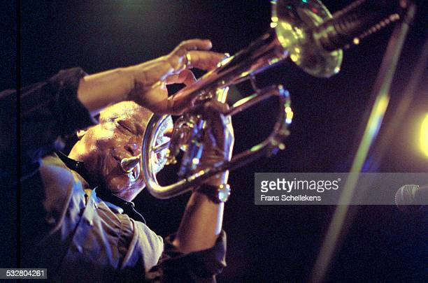 Hugh Masekela trumpet performs at the Paradiso on May 30th 2001 in Amsterdam Netherlands