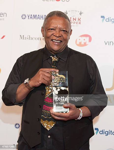 Hugh Masekela wins Life Time Achievement Award at the Jazz FM Awards at Vinopolis on June 10 2015 in London England
