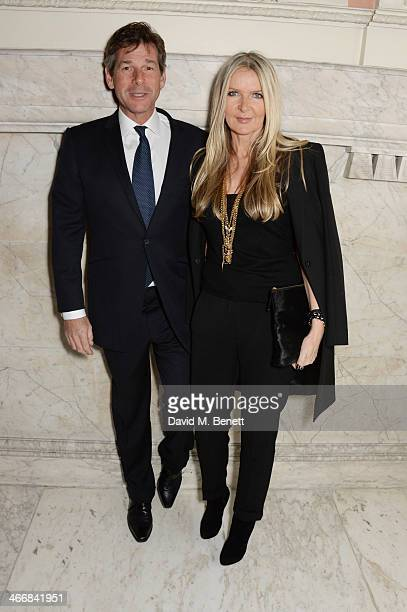 Hugh Morrison and Amanda Wakeley attend the InStyle Best of British Talent party in celebration of BAFTA in association with Lancome and Sky Living...