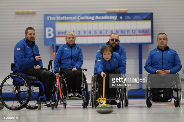 Hugh Nibloe Angie Malone Aileen Nelson Gregor Ewan and Robert McPherson and Angie Malone are seen at announcement of the ParalympicsGB Wheelchair...