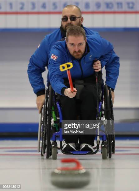 Hugh Nibloe is seen at announcement of the ParalympicsGB Wheelchair Curling Team at The National Curling Centre on January 10 2018 in Stirling...