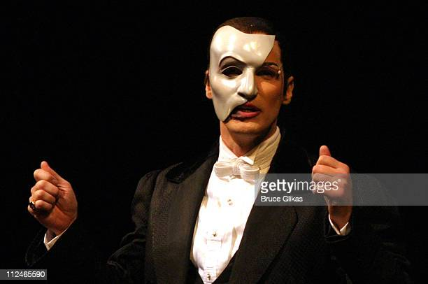 Hugh Panaro the Phantom during The Phantom of the Opera Marks Its 7000th Performance on Broadway at The Majestic Theater in New York City New York...