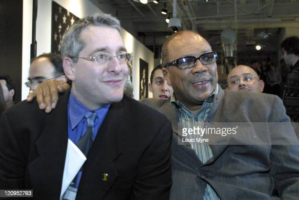 Hugh Panero XM Satellite Radio President and CEO and Quincy Jones share a moment