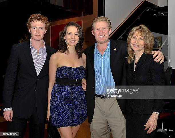 Hugh Pollack American figure skater Sarah Hughes Andrew Giuliani and Donna Hanover attend the Golf Channel's Big Break Dominican Republic screening...