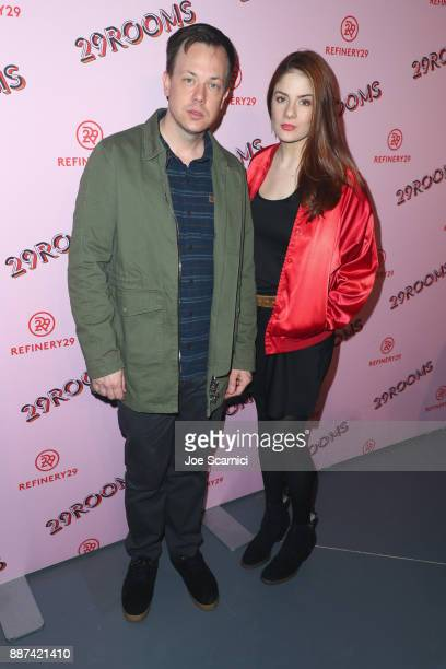 Hugh Scott and Emily Tremaine attend Refinery29 29Rooms Los Angeles Turn It Into Art Opening Night Party at ROW DTLA on December 6 2017 in Los...