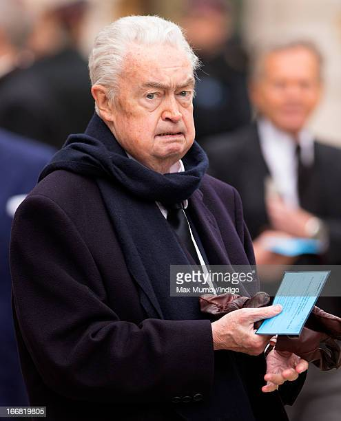 Hugh Scully attends the funeral of former British Prime Minister Baroness Margaret Thatcher at St Paul's Cathedral on April 17 2013 in London England...