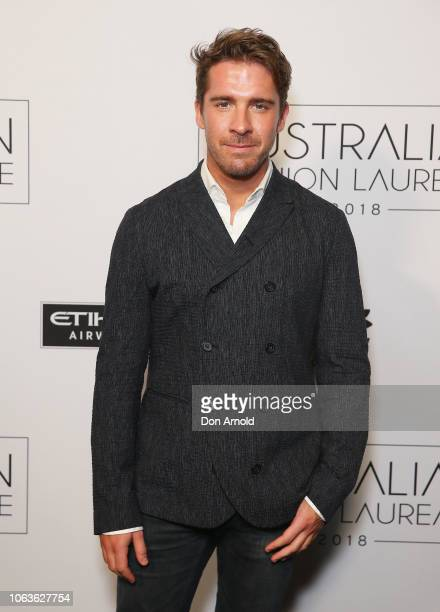 Hugh Sheridan poses at the 2018 Australian Fashion Laureate Awards on November 20 2018 in Sydney Australia