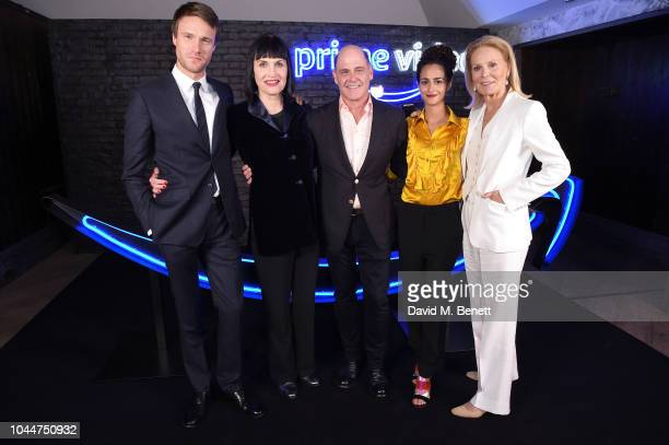 Hugh Skinner, Adele Anderson, Matthew Weiner, Ines Melab and Marthe Keller attend the Amazon Prime Video Europe Autumn Party at 100 Wardour Street on...